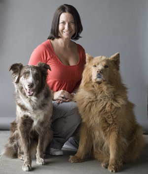Tracie with Foster and Niko